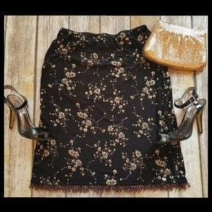 Betsey Johnson Beaded Hem Skirt M Medium